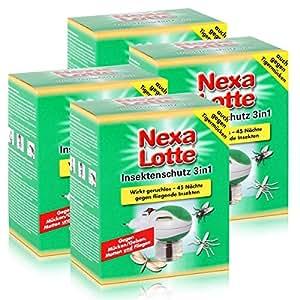 Nexa Lotte–Protección contra insectos 3in1Conector–contra insectos voladores. (4unidades)