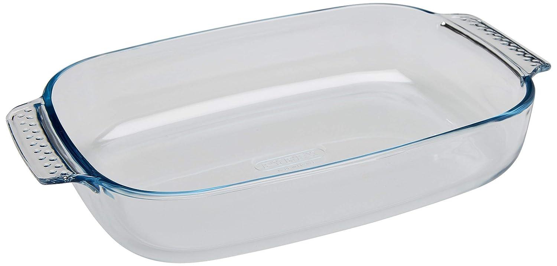Pyrex Classic Vidrio - Fuente rectangular, 34 x 22 cm: Amazon.es ...