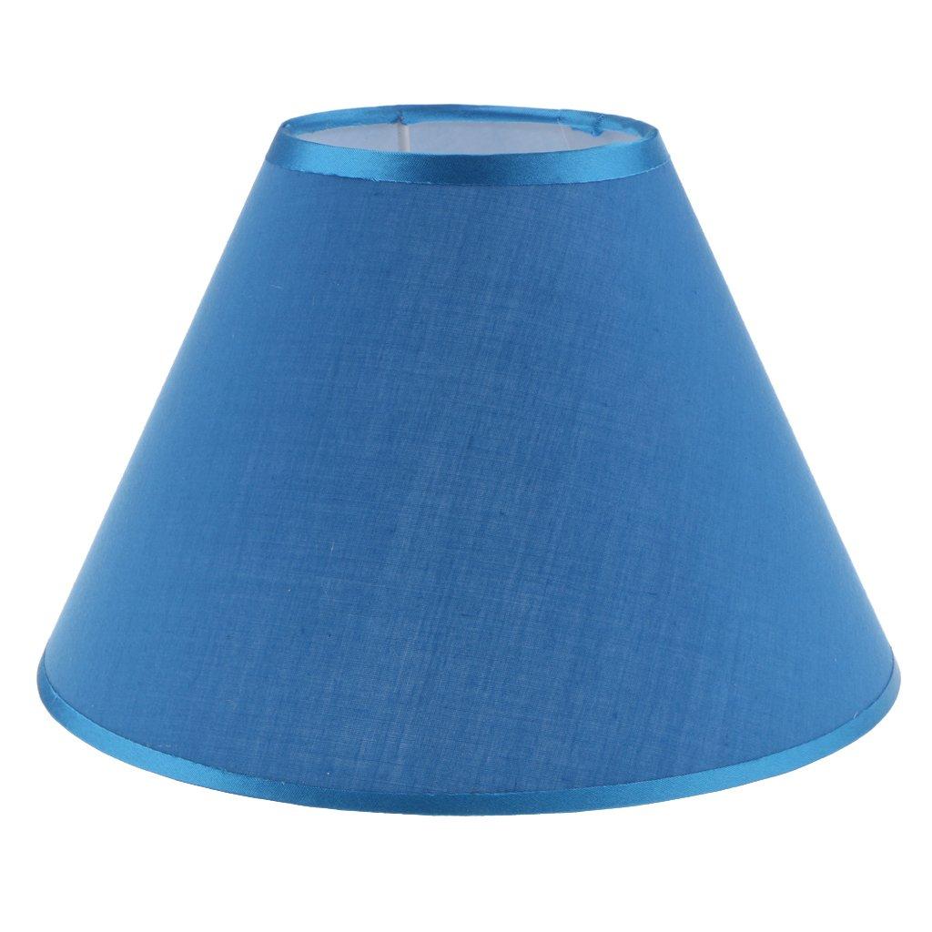 Homyl Abat-jour Lustre Lampe Suspendue Ombre Forme en Cô ne pour Plafonnier E27 Art Tissu Dé cor Chambre Salon - Bleu