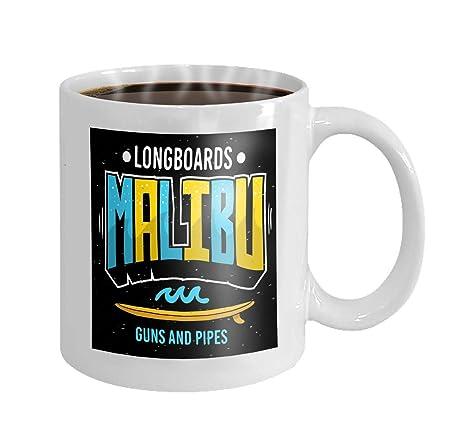 Taza de café de 11 oz Malibu Surf surf Tema promocional ...