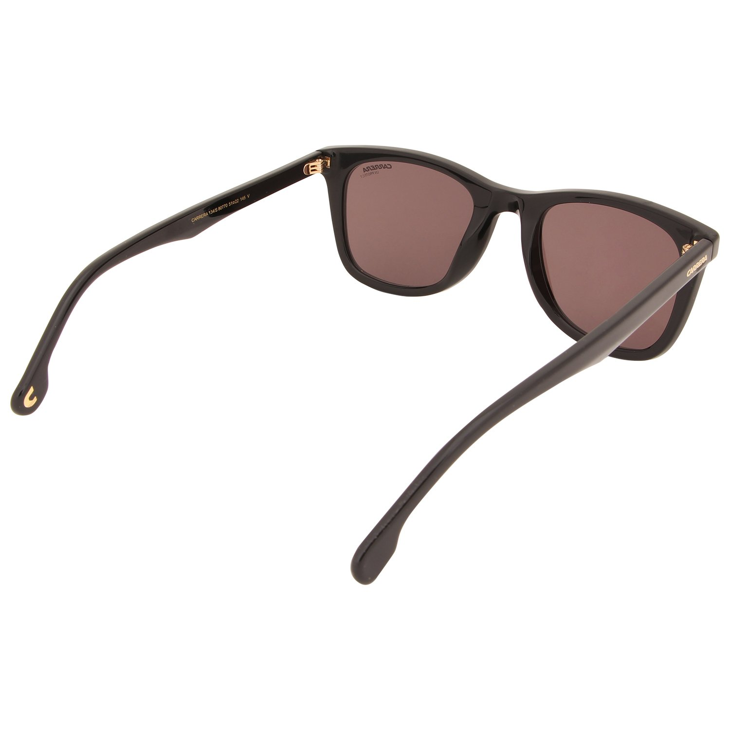 c284cda125059 Amazon.com  Sunglasses Carrera 134  S 0807 Black   70 brown lens  Clothing