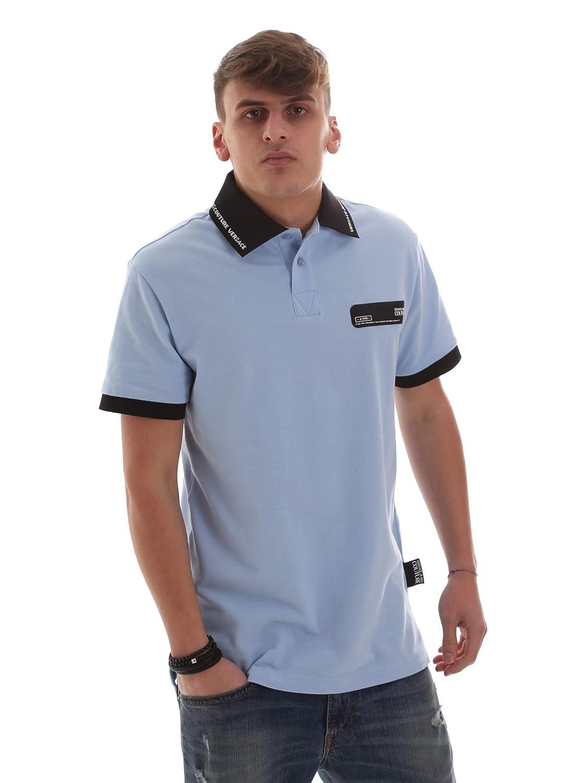 Versace Jeans B3GVB7P536571256 Polo Hombre Azul M: Amazon.es: Ropa ...