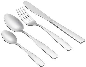 Cubiertos de acero inoxidable 18/10 acero inoxidable cubertería, juego de vajilla vajilla utensilios de cocina: Amazon.es: Hogar