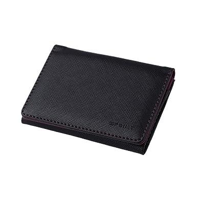 4882e18c0c2 ECM10A04 Purple Black Shopstyle Leather Card Case Wallet Xmas Gift Idea By  Epoint