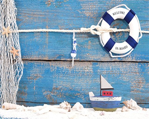 AOFOTO 10x8ft Nautical Style Backdrop Mariner Seaf...