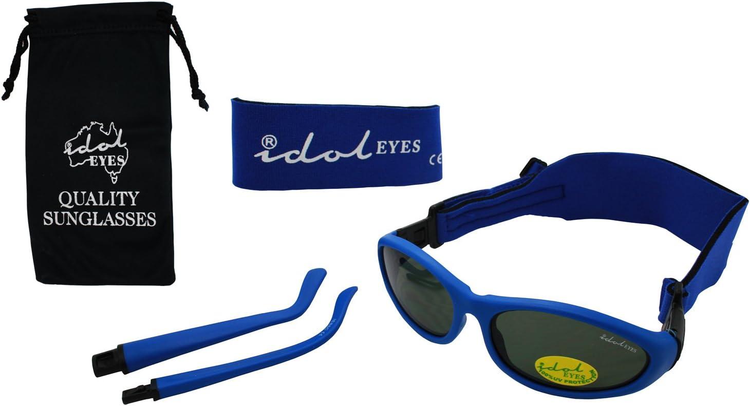Bebé Wrapz 2Convertible gafas de sol 0–5años con 2diademas cartucho para armas (azul)
