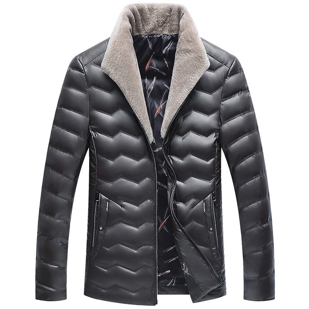 Rayem Daunenjacke, Männer Trend Kurze Jacke mit Pelzkragen, Winter im Freien kalt warme Kleidung, geeignet für Kaltes Wetter