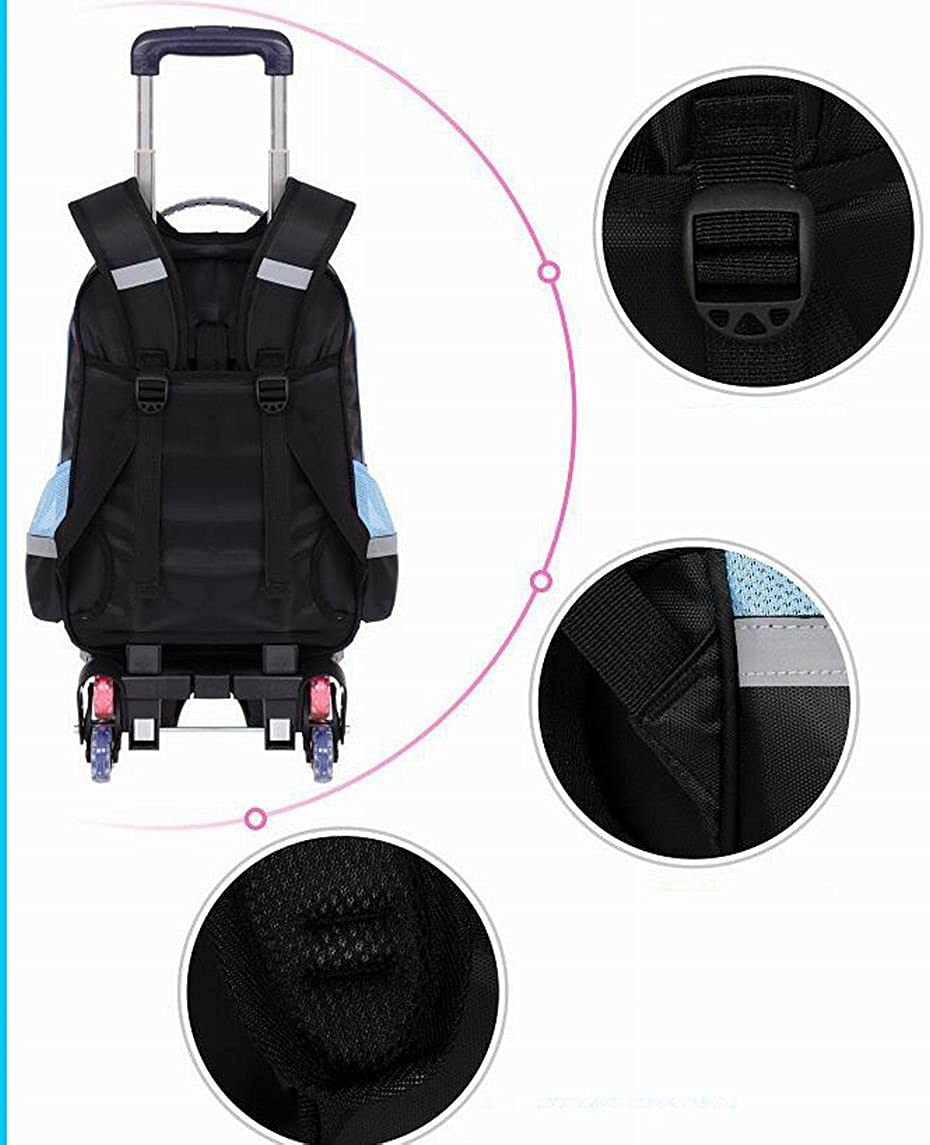 Kids Rolling Backpack Weilong Teens School Power Wheeled Backpack With 2 Wheels