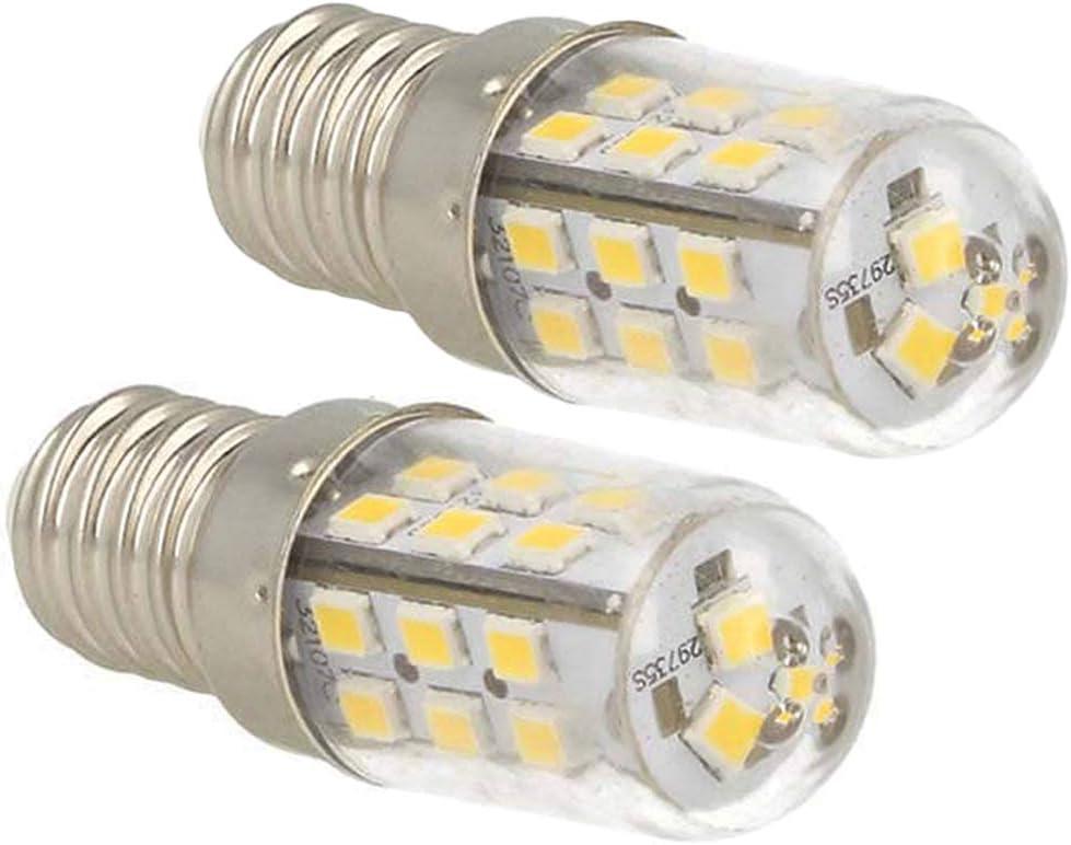 LEDLUX LC1402C 2 bombillas LED E14 DC 12V 24V 4W blanco cálido 3000K para señalización de luz de cementerio, barcos fotovoltaicos, camiones, superdelgado de 18mm