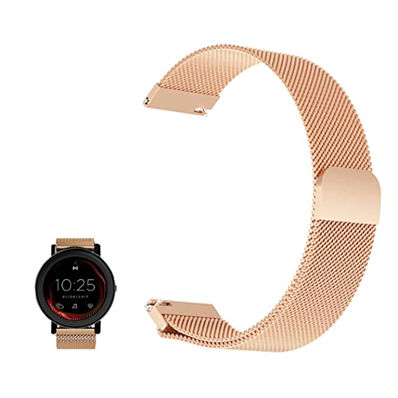 for Misfit Vapor Band, FRGNIE Milanese Stainless Steel Fully Magnetic Closure Mesh Replacement Strap for Misfit Vapor Smartwatch/Misfit Wearables ...