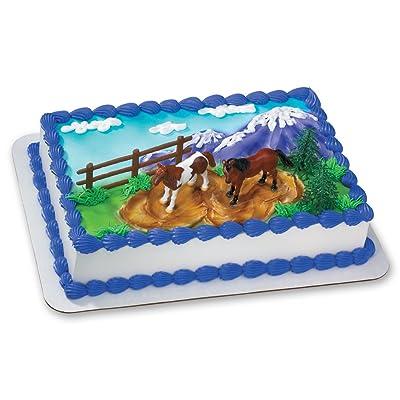 DECOPAC Horses DecoSet Cake Topper: Toys & Games