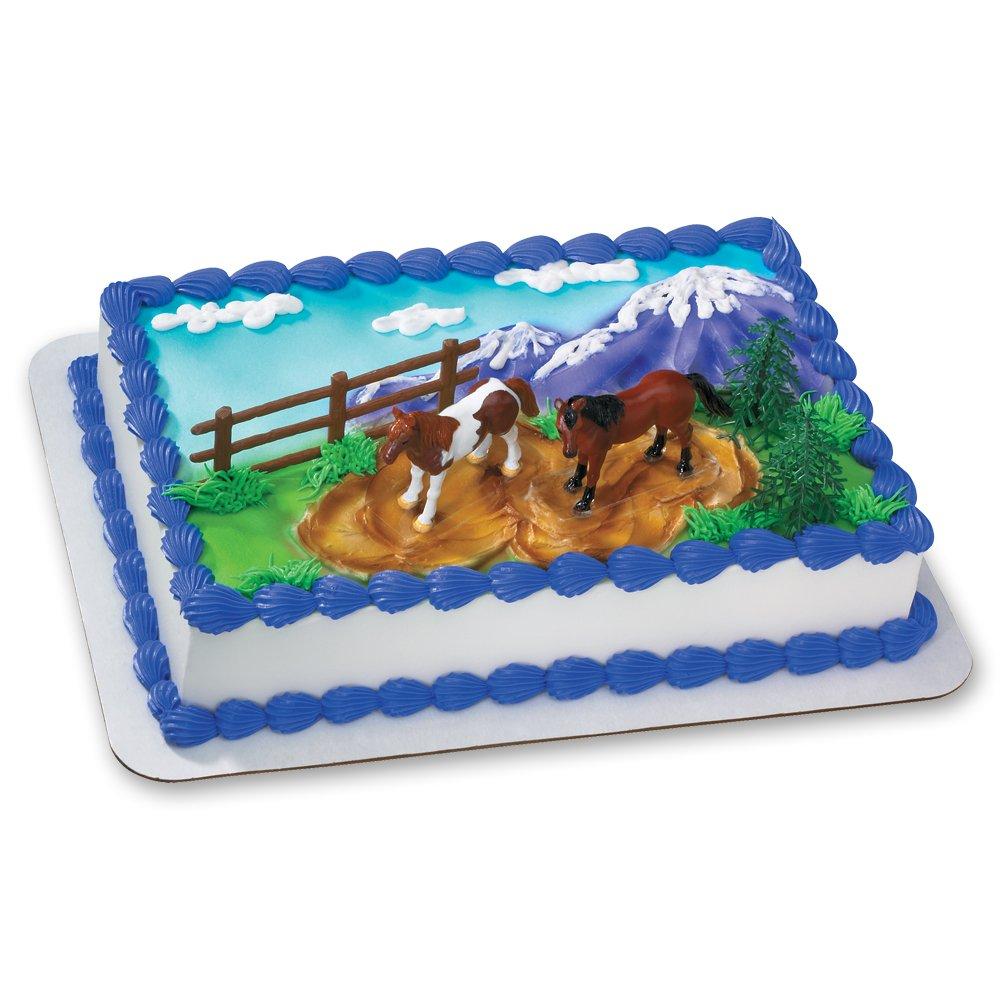 Incredible Decopac Horses Decoset Cake Topper Amazon Co Uk Toys Games Personalised Birthday Cards Xaembasilily Jamesorg