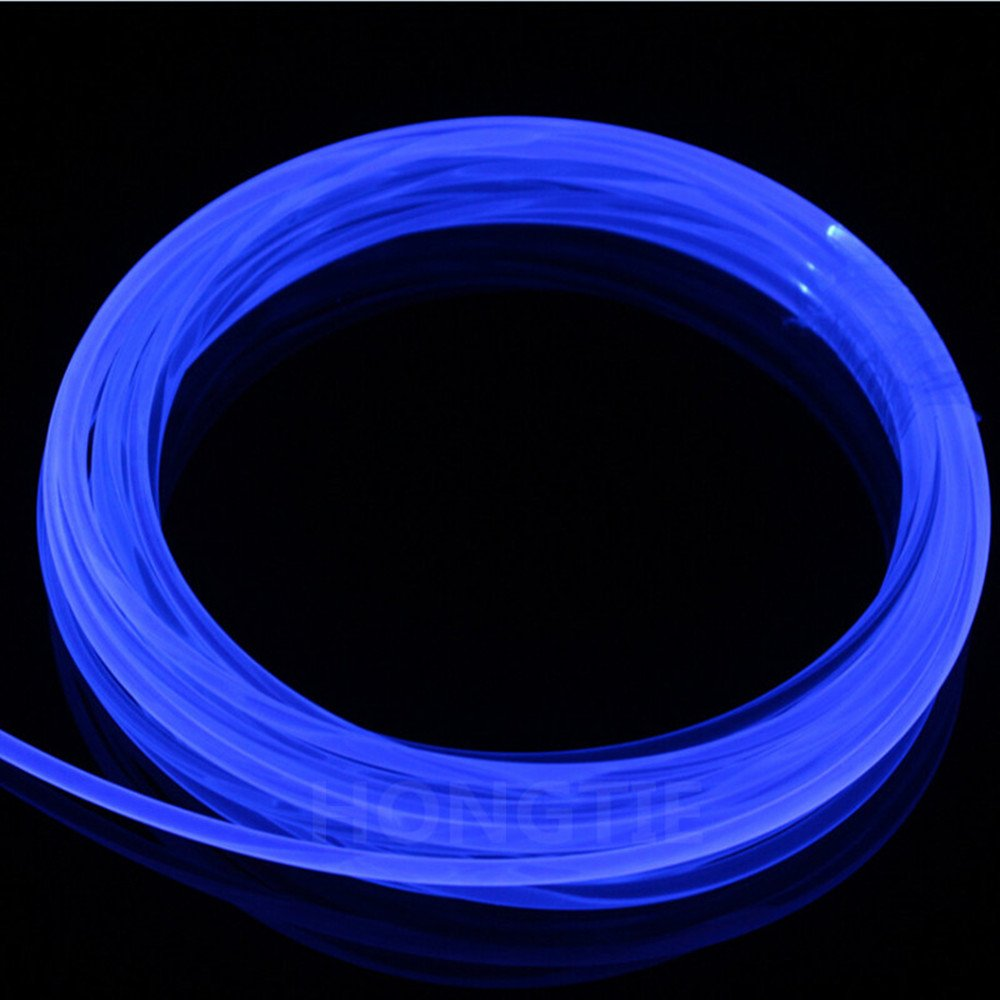 5meters5.0MM Universal Decoration Side Glow Fiber Optic Cable Car Light