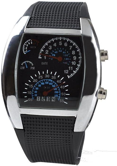 Regalo de la belleza de la moda fresco del coche del reloj Digital Led Flash e innovadores que se utiliza para la práctica de deportes de aire metro de la ...