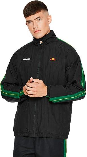 d1aed52f02 ellesse FIASTRA Mens Black Zip Through Jacket: Amazon.co.uk: Clothing