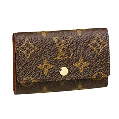 a16453275627 Amazon.com  Louis Vuitton Monogram Canvas 6 Key Holder Key Ring Armagnag  M62630 Made in France  Clothing