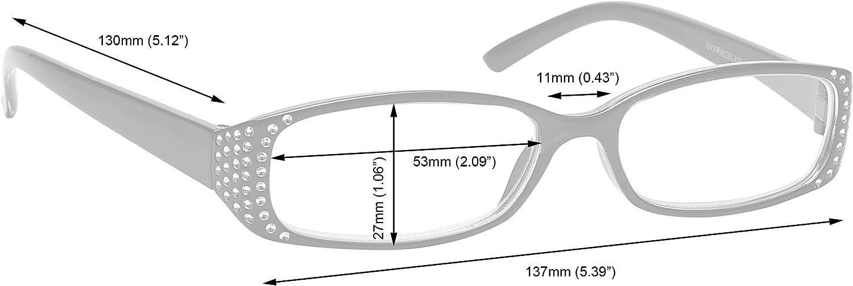 Schwarz /& Schwarz Lila Diamonte Stil Kurzsichtig Kurzsichtigkeit Fernbrille Wert 2er-Pack Frauen Damen MM93-15 Dioptrien 1,00