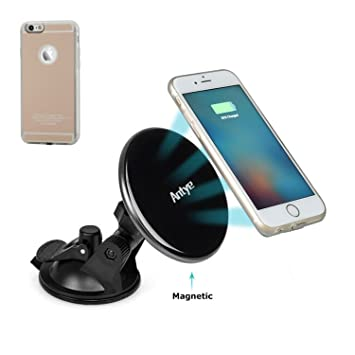 Cargador de coche Qi, inalámbrico, magnético, para iPhone 6 ...