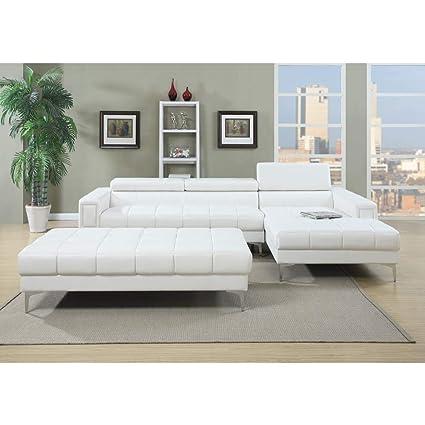 Amazon.com: Benzara BM166766 Bonded Leather 2 Piece ...