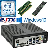 E-ITX ITX350 Asrock H270M-ITX-AC Intel Core i3-7100 (Kaby Lake) Mini-ITX System , 8GB Dual Channel DDR4, 480GB M.2 SSD, WiFi, Bluetooth, Window 10 Pro Installed & Configured by E-ITX