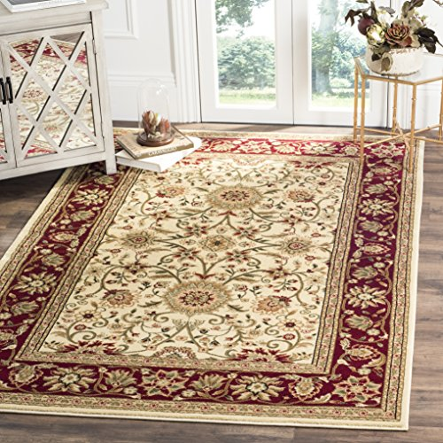 Safavieh Lyndhurst Collection LNH212K Traditional Oriental Ivory and Red Area Rug (6' x 9')
