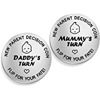 New Parents Decision Coin,Kucheed New Baby Gift Pregnancy Gift for First Time Mom Dad,New Dad Mum Gift,First Mothers…