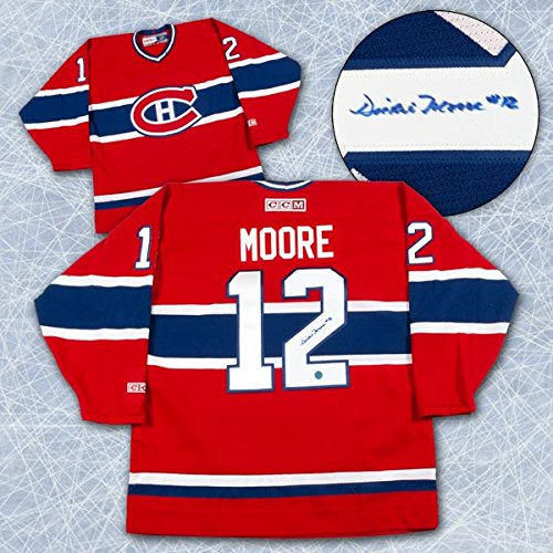 Dickie-Moore-Montreal-Canadiens-Autographed-Retro-CCM-Hockey-Jersey