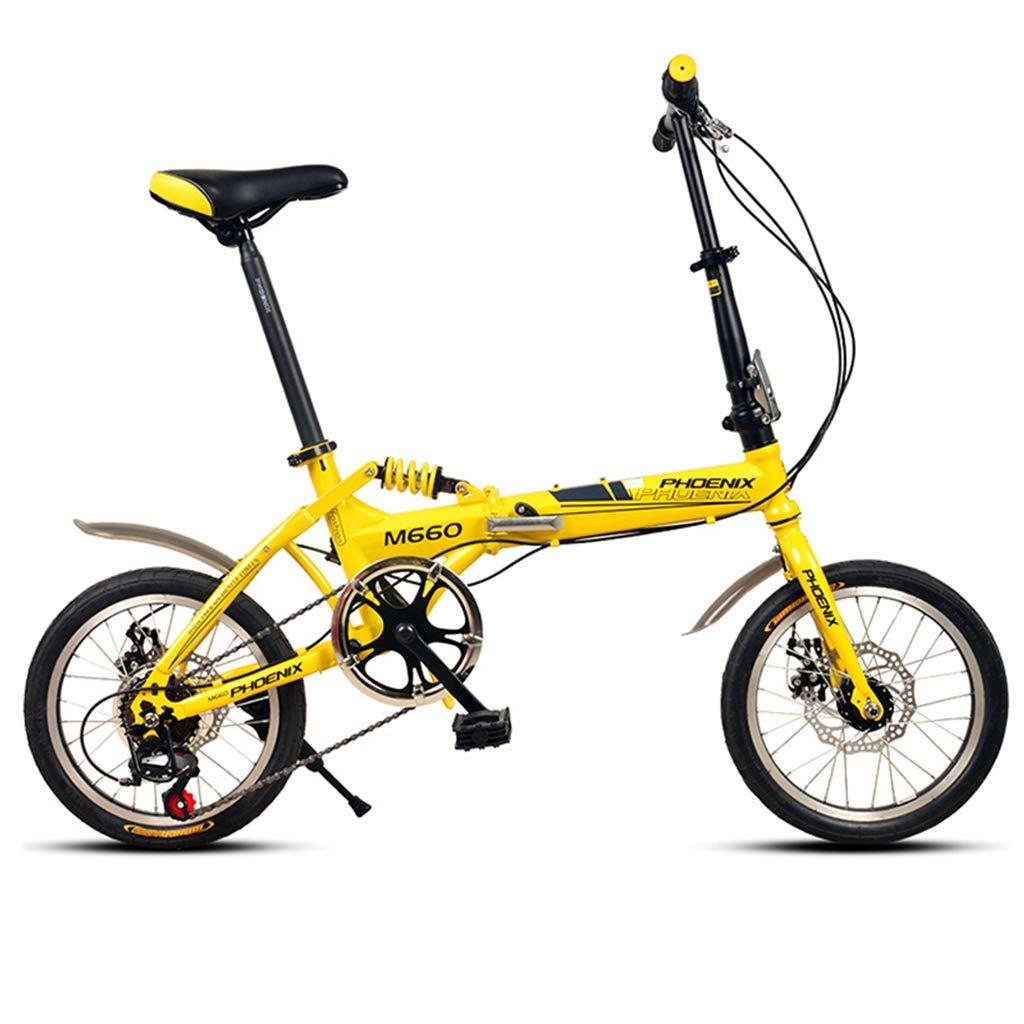 Bici per bambini Bicicletta Bicicletta Bicicletta per Bambini Bicicletta per Ragazzo Bicicletta per Ragazza Sistema di Trasmissione A 6 velocità, 16 Pollici può Essere Piegato Rapidonnate