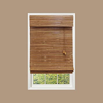 Amazoncom Home Decorators Collection Honey Bamboo Roman Shade 27