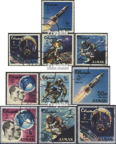 Ajman 93A-102A (Complete.Issue.) 1966 Space (Stamps for Collectors) Space