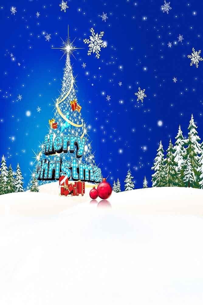 GladsBuy Falling Snowflakes 8' x 12' Digital Printed Photography Backdrop Christmas Theme Background YHA-437