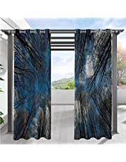 Adorise Indoor Outdoor Curtains Stars and Snowflakes Merry Christmas Pattern with Traditional Festive Icons Home Fashion Window Panel Drapes You Will Have A Nice Backyard Getaway Multicolor