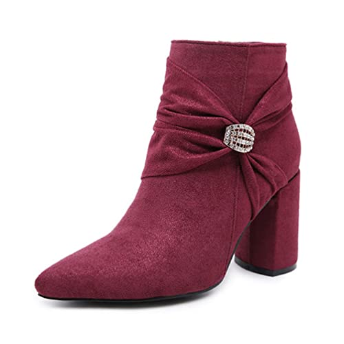 Femmes Carrés Bottes Hauts Montantes Talons Boots JITIAN Y6mgbfI7yv
