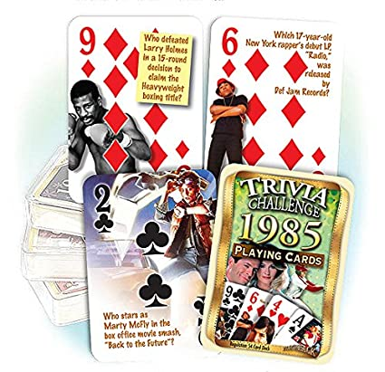 Amazon.com: 1985 Trivia Juego de cartas: 32 nd regalo de ...