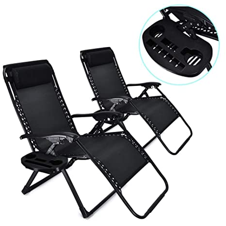 Amazon Com Wegi King 2pcs Portable Folding Lounge Chair With