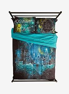 Harry Potter Hogwarts Is My Home Galaxy Pillowcase Set
