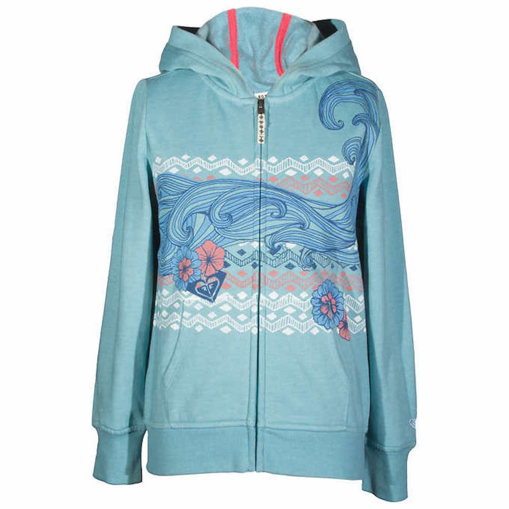 Roxy Girls Hoodie Cameo Blue Small 7/8 by Roxy (Image #1)
