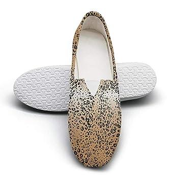 515012e5c9f9 Amazon.com: Leopard Animal Texture Seasonal Classics Women's Extra Light  Flat Boat Shoes Girls Espadrille Flats: Clothing