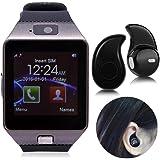 IKALL Smartwatch With Bluetooth Headset (Black)
