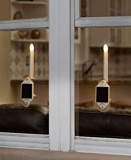 holiday window candles lit windows set of solar holiday window candles amazoncom garden outdoor
