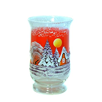 10 inch high decorative bud vase handmade christmas new year design glass vase - How To Decorate Glass Vases For Christmas