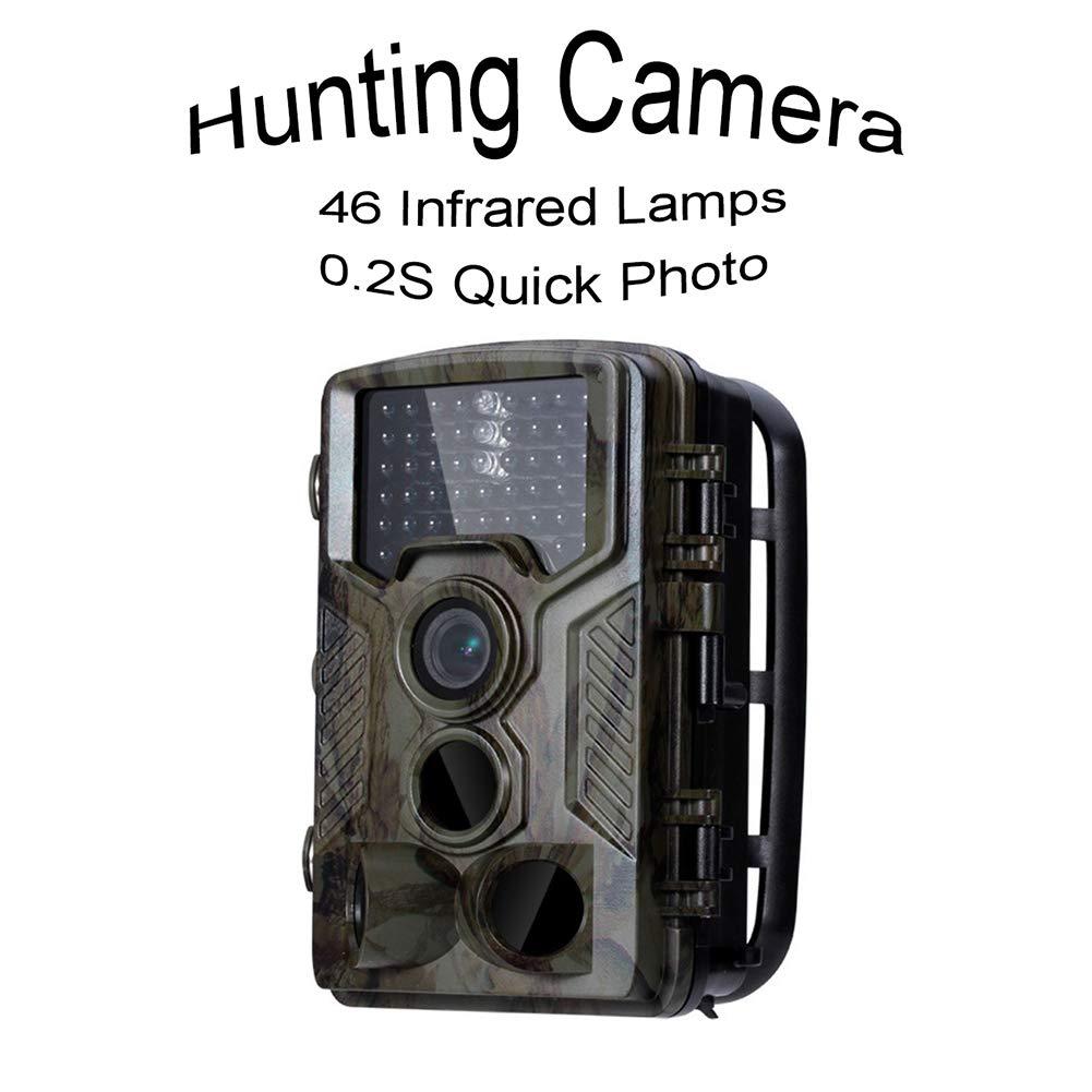 1,600万ピクセル 0.2S クイック写真 狩猟 スポーツカメラ 2.4インチ 防水 46個の赤外線ランプ ナイトビジョン カメラ 転倒防止 ロングスタンバイ 環境調査 モニタリング   B07PYWCBZ2