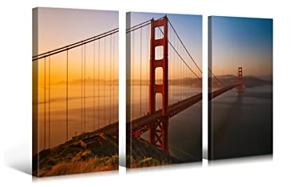 amazon very artistic large canvas print wall art golden gate