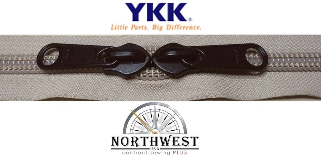 YKK #10 Zipper coil chain with 2 sliders per yard. MANY COLORS. Sold in 10-yard lots. Please see our other listing for size 5 & size 8 (10 yards & 20 black sliders, Platinum) by YKK