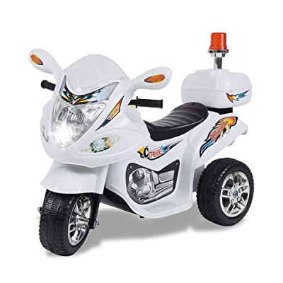 TAMCO Police Motorcycle Ride On Toy with Flash Alarm Light, Electric Power Tricycle with Foot Pedal, 7 Colors Flashlight Front Light, Music & Honk, Super Easy Driving for Kids Max Load 45LB: Toys & Games