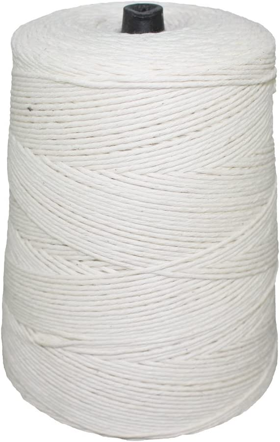 SGT KNOTS Cotton Butcher Twine with Polyester - Kitchen String for Cooking, Food Packaging, and Crafting Projects (12ply - 2lb, 3360ft)