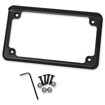 radiantz motorcycle license plate frame 6in led illuminator black 8202 52 - Motorcycle License Plate Frame