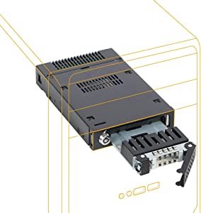"ICY DOCK 2.5"" U.2 NVMe SSD Mobile Rack for External 3.5"" Drive Bay - ToughArmor MB601VK-1B"