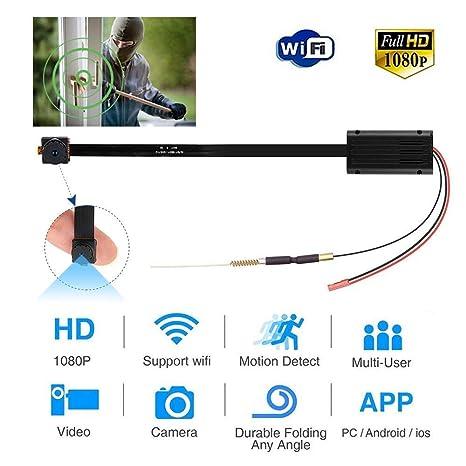 Hootracker H6 4K 1080P Mini Cámara espía, Espía Cámara Oculta Portátil Interior/Exterior WiFi