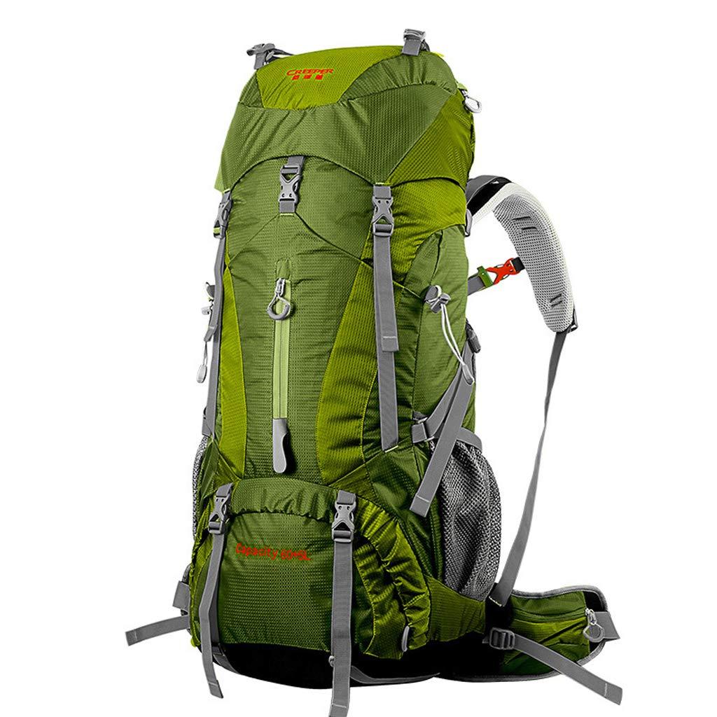 キャンプバックパック65 L屋外大容量防水と通気性の負荷の男性と女性のハイキングハイキング多機能バックパックレインカバー  D B07R9JV2QW